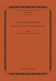 La Germania e l'Oriente - Librerie.coop