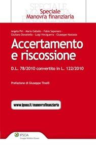 Accertamento e riscossione - D.L. n. 78/2010 convertito in legge - copertina