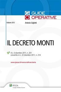 Il Decreto Monti - Librerie.coop