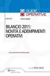 Bilancio 2011: Novità e adempimenti operativi - Librerie.coop