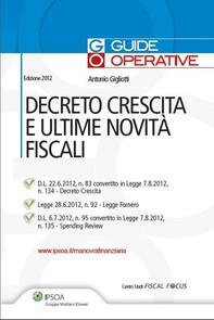 Decreto crescita e ultime novità fiscali - Librerie.coop
