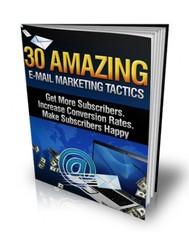 30 Amazing E-mail Marketing Tactics - copertina