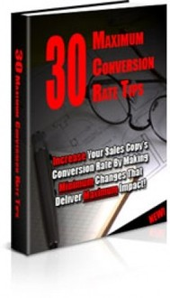 30 Maximum Conversion Rate Tips - copertina