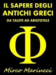 Il sapere degli Antichi Greci - copertina