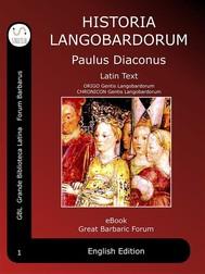 Historia Langobardorum - copertina