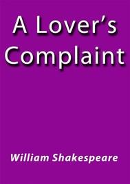 A lover's complaint - copertina