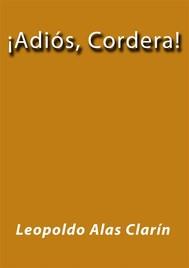 Adiós Cordera - copertina