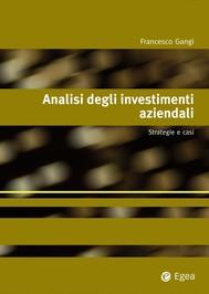 Analisi degli investimenti aziendali - copertina