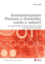 Amministrazione Finanza Controllo: costo o valore? - copertina