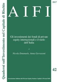 AIFI 42. Gli investimenti dei fondi di private equity internazionali e il ruolo dell'Italia - copertina