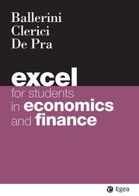 Excel for students in economics and finance - Librerie.coop