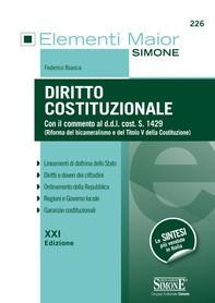 Elementi Maior di Diritto Costituzionale - Librerie.coop