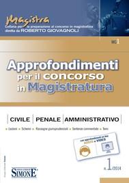 Approfondimenti per il concorso in Magistratura n. 1/2014 - copertina