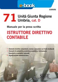 71 Unità Giunta Regionale Umbria, cat. D - Istruttore direttivo contabile - Librerie.coop