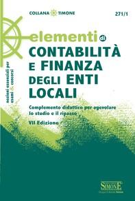 Elementi di Contabilità e Finanza degli Enti Locali - Librerie.coop