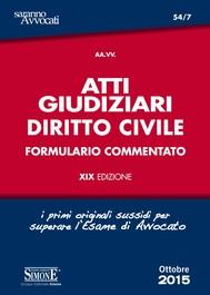 Atti Giudiziari di Diritto Civile - copertina