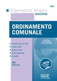 Elementi Maior di Ordinamento Comunale - Librerie.coop
