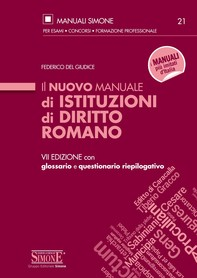Il nuovo Manuale di Istituzioni di Diritto Romano - Librerie.coop