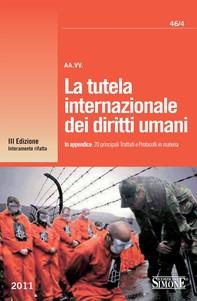 La tutela internazionale dei diritti umani - Librerie.coop