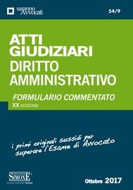 Atti Giudiziari Diritto Amministrativo - copertina