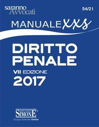 """Manuale XXS di Diritto Penale (FORMATO """"extra small"""") - Librerie.coop"""