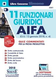 11 Funzionari giuridici AIFA - copertina