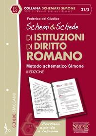 Schemi & Schede di Istituzioni di Diritto Romano - Librerie.coop
