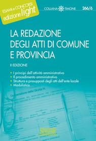 La redazione degli Atti di Comune e Provincia - copertina