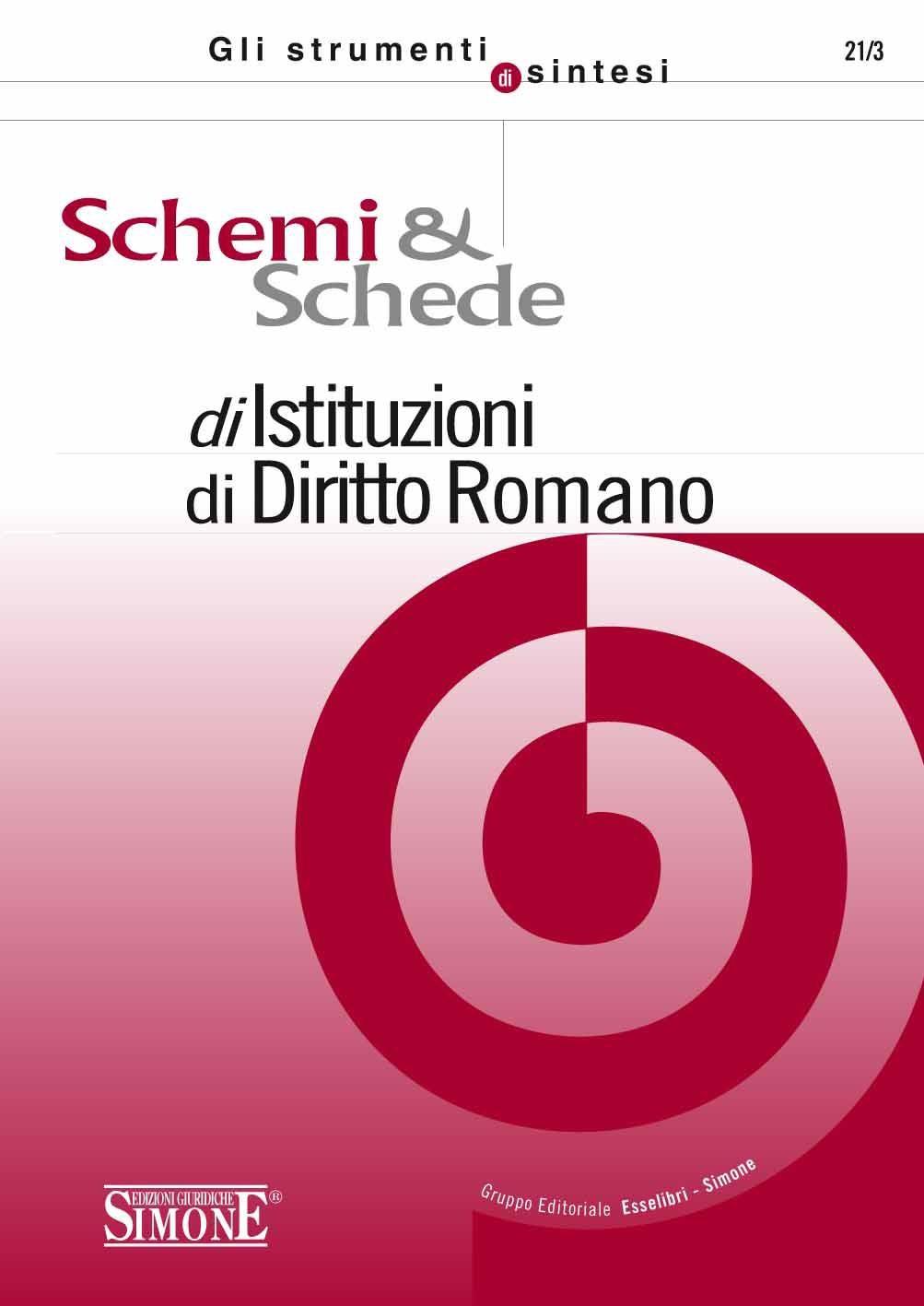 Matrimonio Diritto Romano Simone : Schemi e schede di istituzioni diritto romano