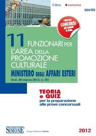 11 Funzionari per l'Area della Promozione Culturale - Ministero degli Affari Esteri - copertina