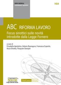 ABC Riforma Lavoro - Librerie.coop