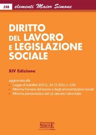 Elementi Maior di Diritto del Lavoro e Legislazione Sociale - Librerie.coop