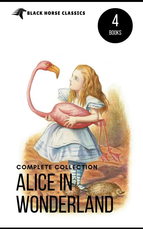 Book Cover Images Api : Alice in wonderland collection all four books