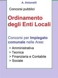 Concorso Impiegato comunale - Ordinamento degli Enti Locali - copertina