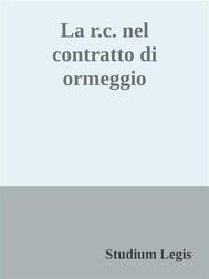La r.c. nel contratto di ormeggio - copertina