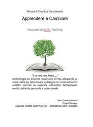 """""""APPRENDERE è CAMBIARE""""- Manuale di Skills-Training - copertina"""