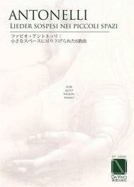 6 lieder sospesi nei piccoli spazi, for alto, violin and piano - copertina
