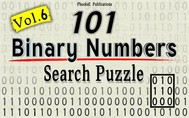 101 Binary Numbers Search Puzzle- Vol. 6 - copertina