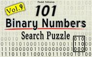 101 Binary Numbers Search Puzzle- Vol. 9 - copertina