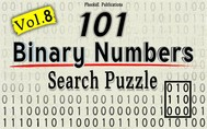 101 Binary Numbers Search Puzzle- Vol. 8 - copertina