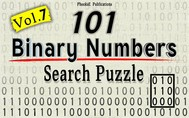 101 Binary Numbers Search Puzzle- Vol. 7 - copertina