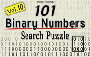 101 Binary Numbers Search Puzzle- Vol. 10 - copertina