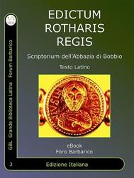 Editto di Rotari - copertina