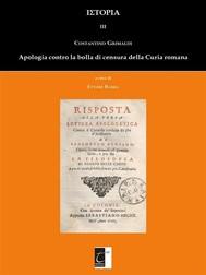 Apologia contro la bolla e la censura di Roma - copertina