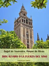 Don Álvaro o la fuerza del sino - copertina