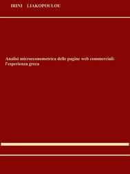 Analisi microeconometrica delle pagine web commerciali: l'esperienza greca - copertina