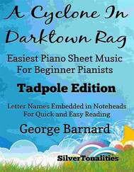 A Cyclone In Darktown Rag Easiest Piano Sheet Music for Beginner Pianists Tadpole Edition - copertina