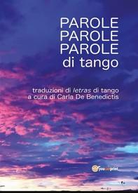 Parole, parole, parole di tango - Librerie.coop