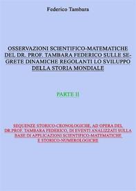 Considerazioni scientifico-matematiche del dr. prof. Tambara Federico riguardo alle segrete dinamiche regolanti lo sviluppo dell - Librerie.coop
