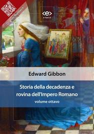 Storia della decadenza e rovina dell'Impero Romano, volume 8 - copertina